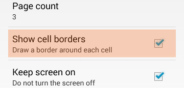 Show cell borders